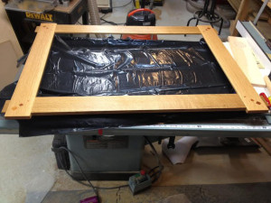 Custom Mirror Varnish drying